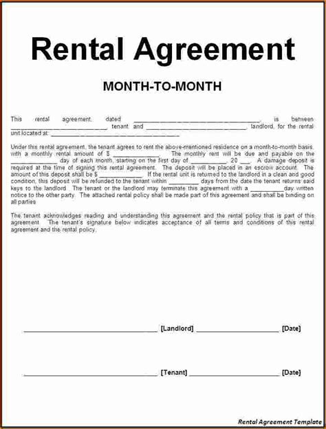 %name free online lease agreement   6  Room Rental Lease Agreement   Printable Receipt