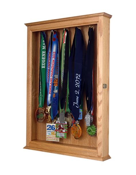 Display Cabinets For Medals by Marathon Medal Display Cabinet Wood Displays