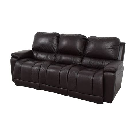 lazy boy leather reclining sofa 77 la z boy la z boy brown leather reclining sofa