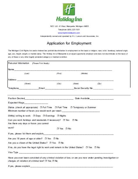 printable job application for party city free printable holiday inn job application form
