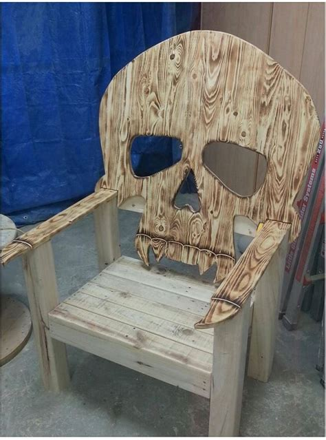 wooden skull lawn chair plans awesome the skull chair wooden lawn chair for the back