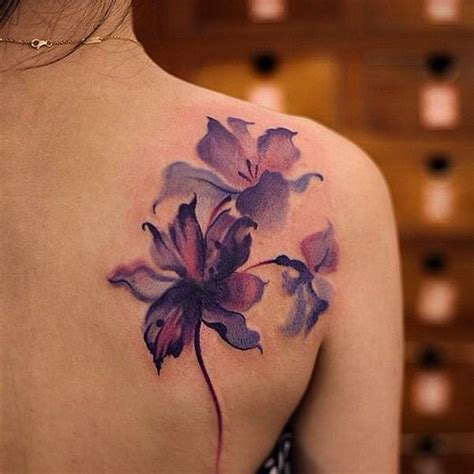 purple flowers tattoos designs the 25 best ideas about flower tattoos on