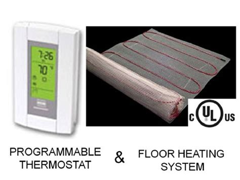 Electric Radiant Floor Heating by 10 Sqft Mat Electric Radiant Floor Heat Heating System