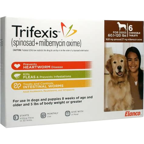 trifexis for puppies trifexis for dogs 60 1 120 lbs 6 mnth