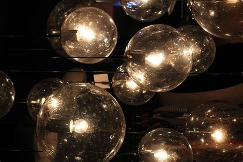 Chandelier With Glass Balls Impressive Large Glass Chandelier By Raak Amsterdam 1960 At 1stdibs