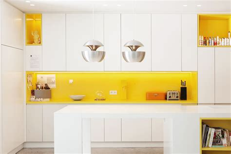 yellow and white kitchen cabinets kitchen white kitchen with bright yellow backsplash