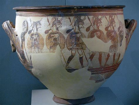 Mycenaean Warrior Vase by Mycenae In Greece