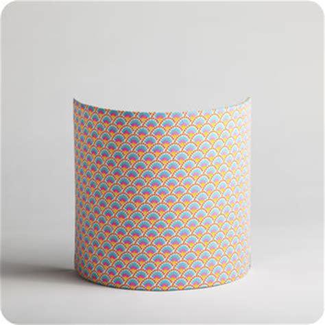 Delightful Chambre Jaune Fluo  #3: Luminaire-applique-murale-tissu-petit-pan-motif-blanc-fluo-wasabi.jpg