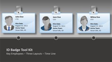 powerpoint id card template id badge tool kit a powerpoint template from