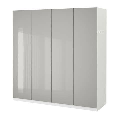 wardrobe knobs ikea pax wardrobe white fardal high gloss light grey 200x60x201