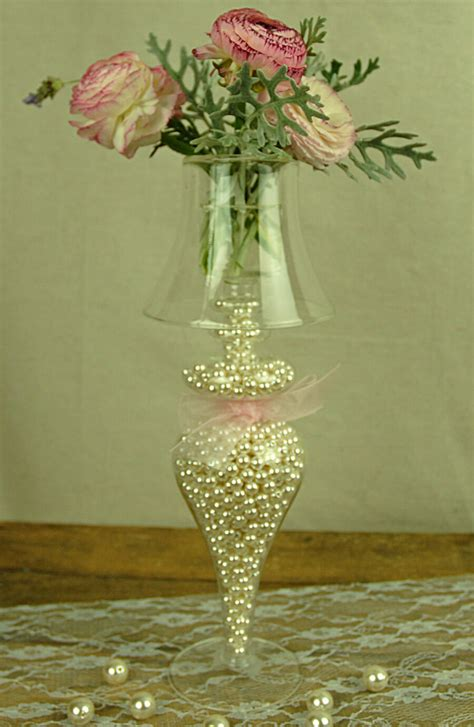 faux pearl vase filler small