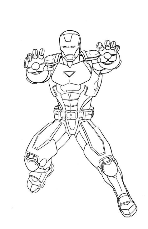 free coloring pages of squad iron man