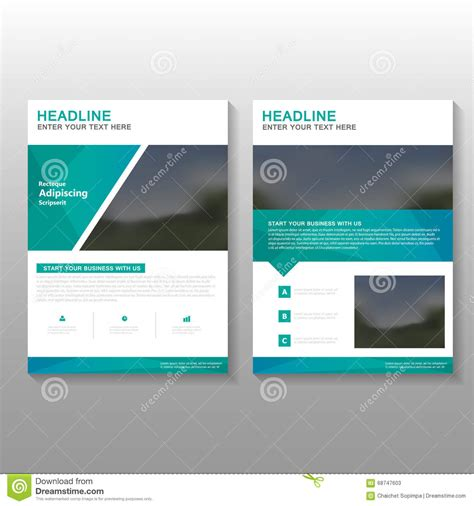 business template design green elegance vector leaflet brochure flyer business