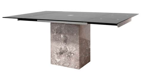 modern citadel extension dining table grey marble base