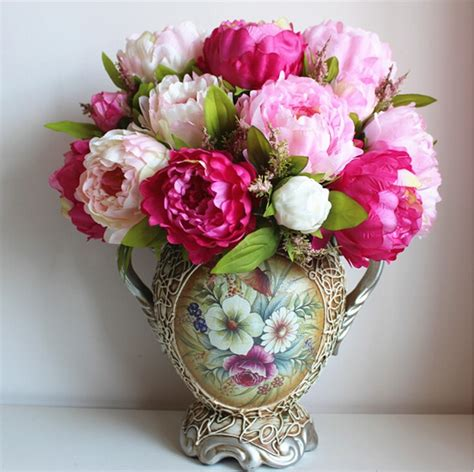 wedding flower arrangement images aliexpress buy large bridal bouquet artificial silk