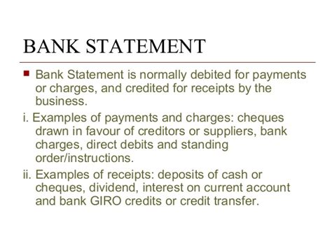 Bank Statement Of Standing Ch 10 Bank Reconciliation
