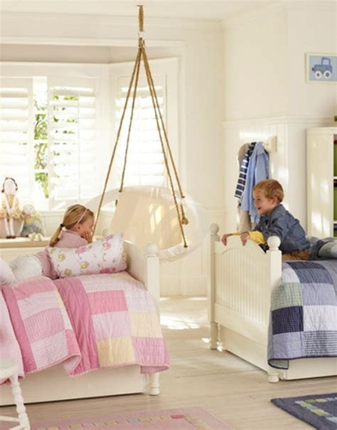 blue  pink shared kids rooms kidsomania