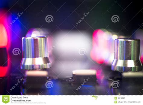 ibiza house music dj console mixing desk ibiza house music party nightclub stock image image 60812031