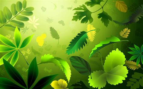 powerpoint themes leaves nature green leaf backgrounds presnetation ppt