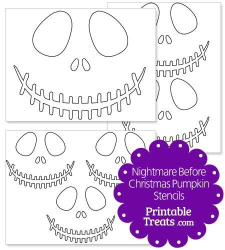 Nightmare Before Printable Template Card by Printable Nightmare Before Pumpkin Stencils From