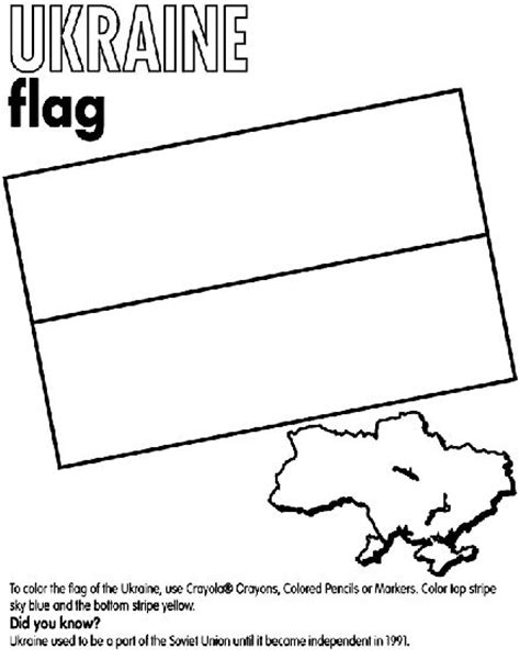 flag coloring pages crayola ukraine flag coloring page ukraine coloring page