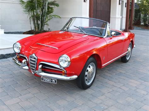 1965 Alfa Romeo Spider by 1965 Alfa Romeo Giulia Spider Veloce One Of 1091 Built