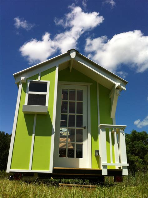 tiny little houses wiki cute lime green 72 sqr ft tiny house by trekker trailers