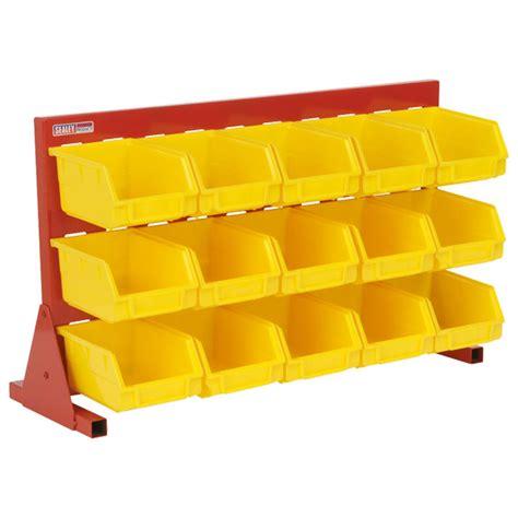 bench with storage bins bin storage system with 15 bins bench mounting rapid online