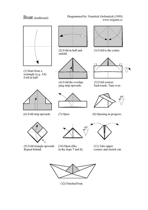 Easy Steps To Make A Paper Boat - free coloring pages how to make a paper ship