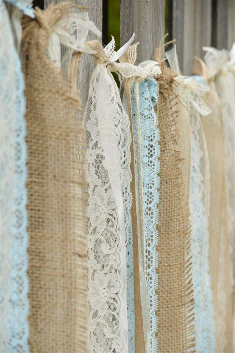 16 Sq ft Burlap Lace Pearl Vintage Shabby by