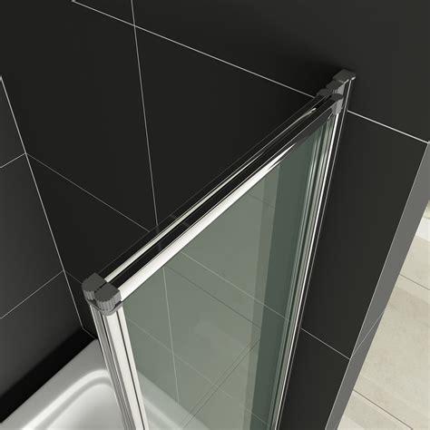 folding glass bath shower screen affordable folding shower screens aica bathrooms ltd