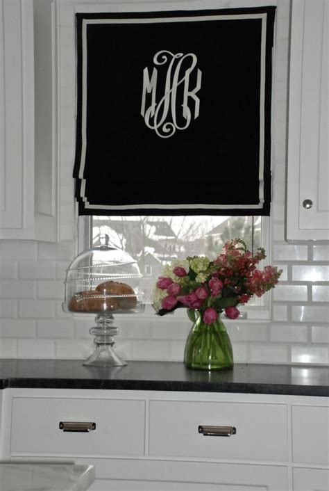 roman home decor monogrammed roman shade diy home decor