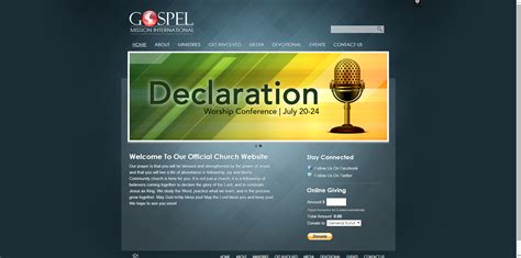 30 Best Church Website Templates For Ministry And Outreach Sharefaith Magazine Ministry Website Templates