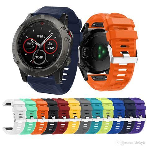 Smartwatch Garmin Fenix 5s Bracelet Silicon Rubber Wrist Band garmin fenix 5x bands fit silicone replacement accessories straps for garmin fenix 5x gps