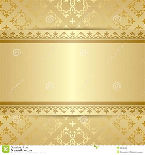 pattern gold gradient gold vector pattern with ornament and gradient stock