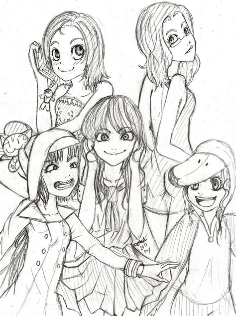 doodle with friends sketch of with best friends coloring pages