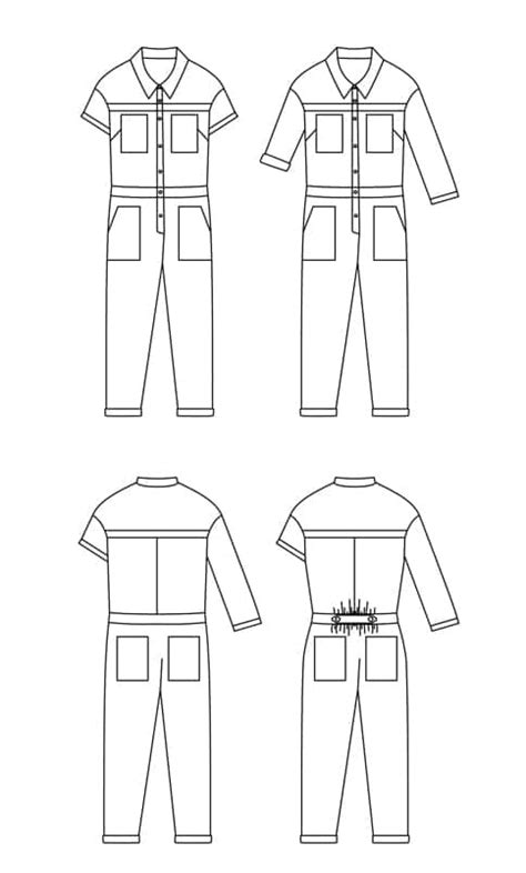 Ready To Sew - Jean-Paul boiler suit cover all   Blanche