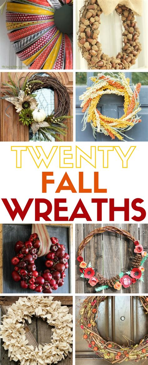 how to make a fall wreaths for front door how to make 20 easy wreaths for fall the crafty stalker