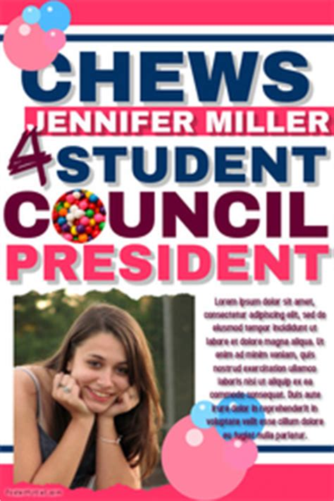 templates for student council posters caign poster templates postermywall