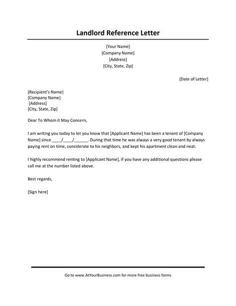 rental reference letter employer templates
