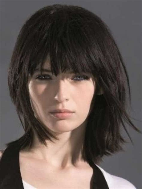 k mitchell short hairstyles with a soft bang 1000 ideas about medium layered bobs on pinterest bob