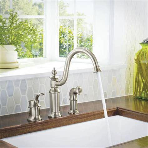 moen waterhill single handle high arc kitchen faucet at menards 174 moen s711csl waterhill one handle high arc kitchen faucet