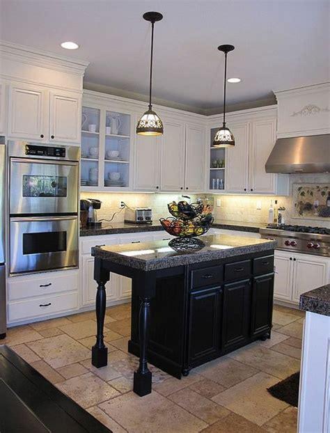 ilot cuisine blanc osez la d 233 coration noir et blanc pour votre cuisine