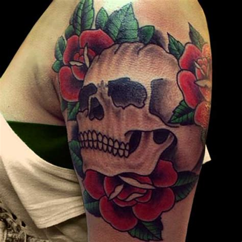 ladies skull tattoo designs 99 gnarly skull tattoos that will make you gawk