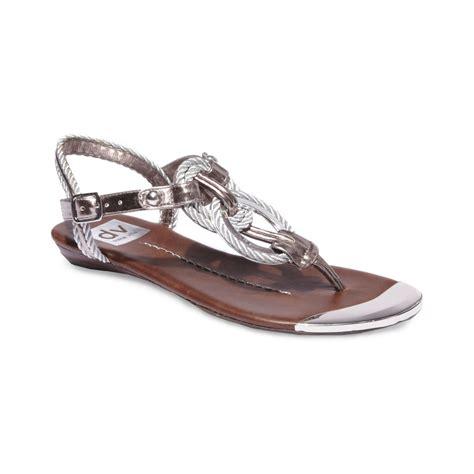 dolce vita sandal dolce vita agnus flat sandals in silver lyst