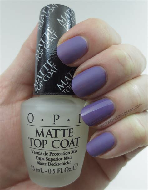Opi Matte Top Coat frazzle and aniploish opi matte topcoat and comparisons