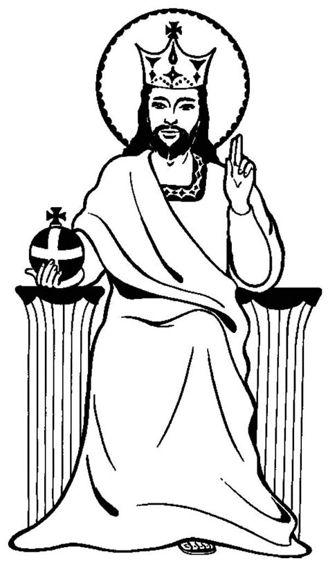 coloring pages jesus is king jesus colouring pages clipart best