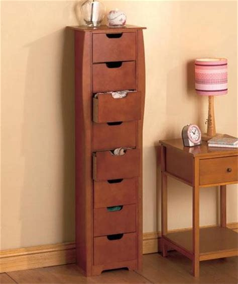 slimline space saving bathroom storage cupboard 8 drawer wooden bathroom bedroom entryway slim space