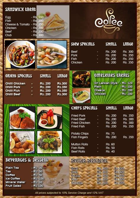 design menu cafe unik design menu restaurants restaurant menu design that can