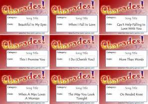 words for wedding charades by free
